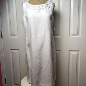 BRAND NEW * New Directions White Sleeveless Dress